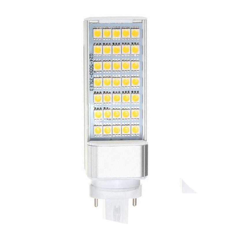 G23 7W 5050 SMD White Led Horizontal Plug Lamp Corn Home Ceiling Warm White Light 21w 3500k 2500lm 322 smd 3528 led warm white light ceiling lamp w magnet silver ac 110 250v
