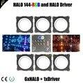 DIY 6xhalo LED SMD RGB Halo Circle Light Ring Dj Disco Effect Большой сценический Декор освещение IP65 Waterpfoof Rate