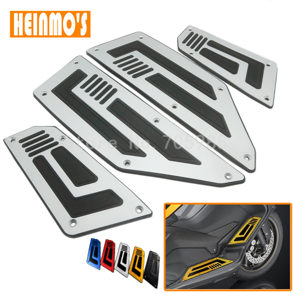 Hot sale For Yamaha T MAX T-max 530 Front and Rear Motorcycle Foot Pegs Silver Footrest Step Motorbike Pedals Foot Pegs 1 Set hot sale motorcycle t max cnc aluminum