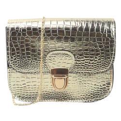 Женские сумки 2018 маленький день клатч Золотая цепь сумка через плечо для девочек модная дамская сумка из крокодиловой кожи с клапаном