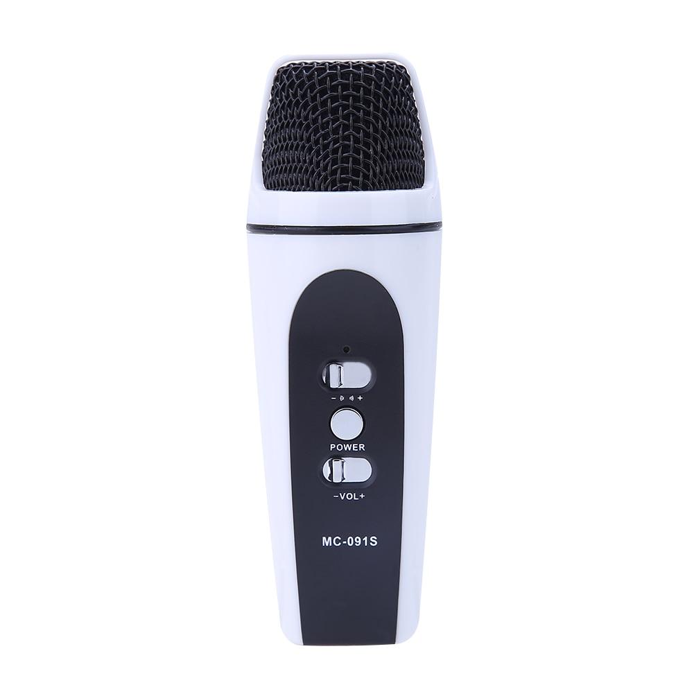 Super Mini Audio Microphone Portable Portable Karaoké Studio Sound Recording Filaire Microphone Universel pour Téléphones Tablet