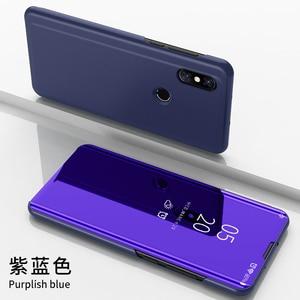 Image 4 - Étui à rabat intelligent pour Xiao mi 9 SE 6 étui de luxe pour mi mi x 3 2 Max 3 étui pour mi Note 3 A1 A2 5X 6X couvercle transparent