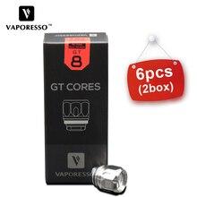 6pcs Vaporesso GT Coil GT8 GT2 GT4 GT6 CCELL2 Meshed E-Cigarette Luxe Core fit Swag/Revenger/Polar Kit Tank