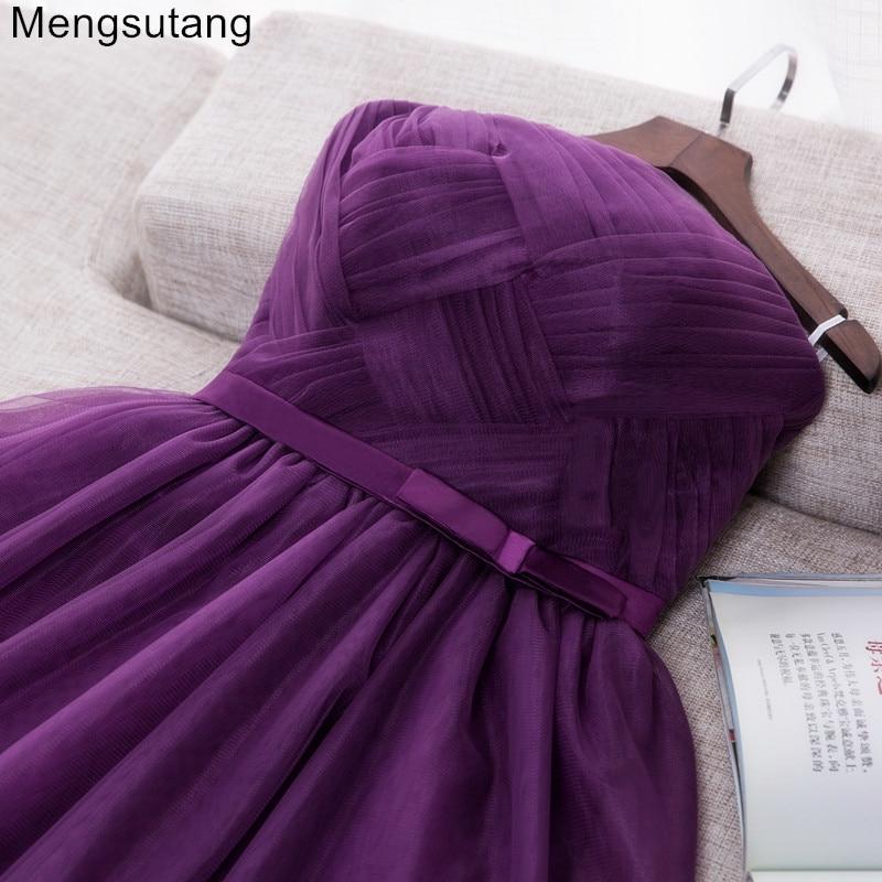 Robe de soiree 2019 short purple Strapless evening dresses vestido de noche vestito da sera gowns prom dresses party dresses