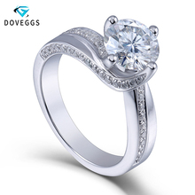 Queen Brilliance 1.5ctw Lab Grown Moissanite Diamond Engagement Wedding Ring Platinum Plated 925 Sterling Silver Women Jewelry