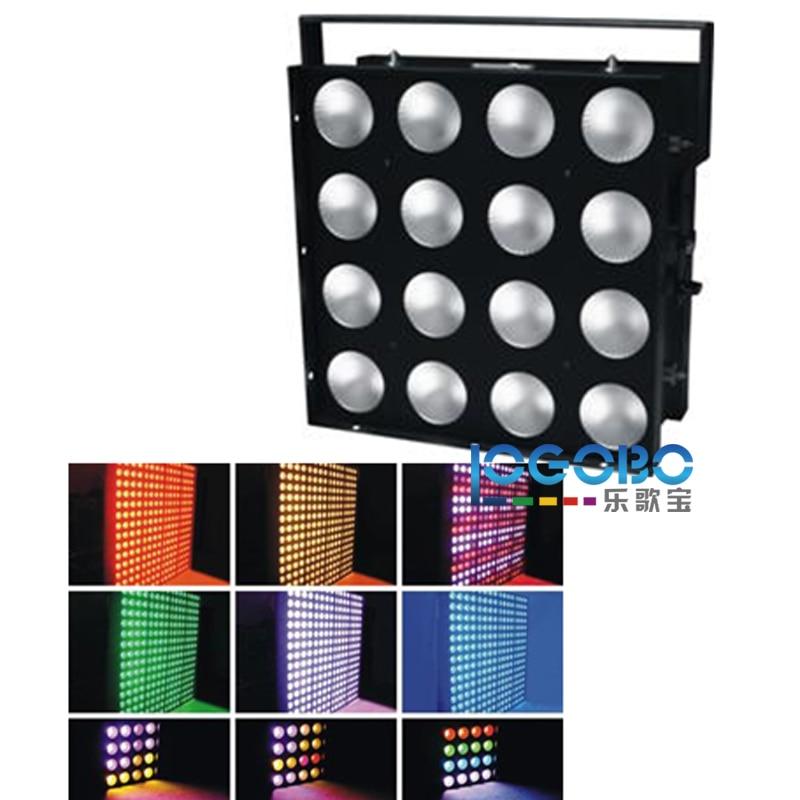 4PCS of 16x30W RGB 3in1 LED Black Light Slim LED COB Matrix DJ Light Wall Washer DMX512 Strobe Concert Stage Disko Lighting Tips