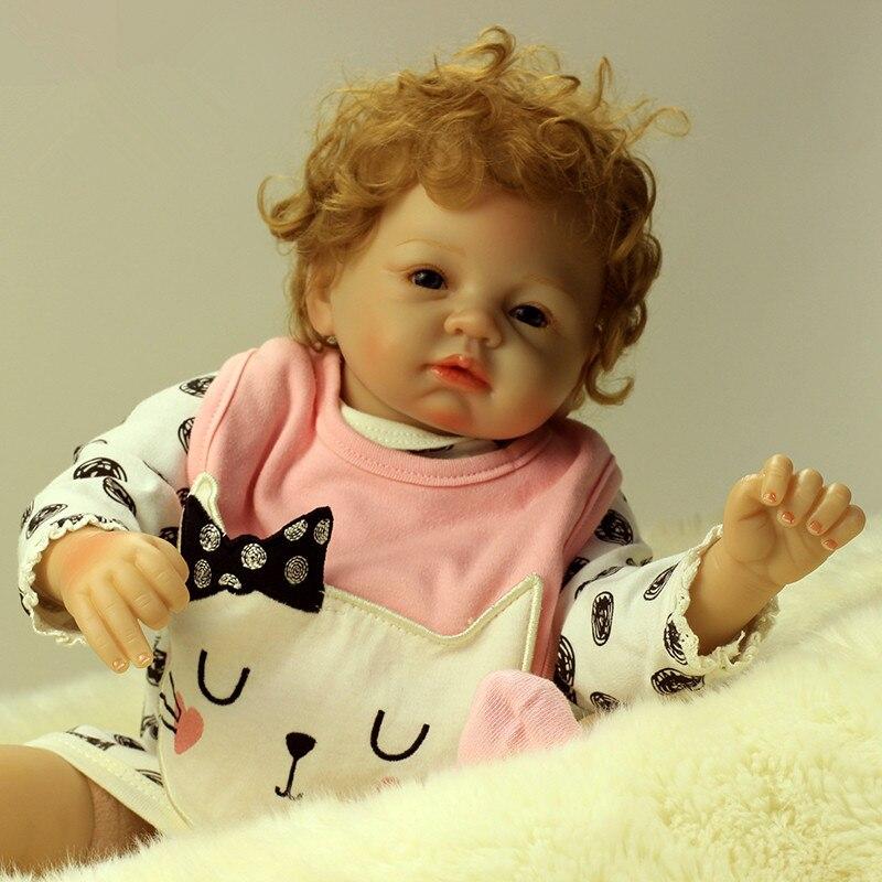 2018 Nueva Llegada 22 pulgadas 55 cm de Silicona bebé Reborn Muñeca - Muñecas y accesorios - foto 4