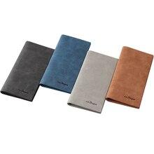 Mens Wallet Fashion Retro Luxury Brand Leather Purse Men Wallets 2016 New Famous Brand Designer High Capacity Long Wallets Slim