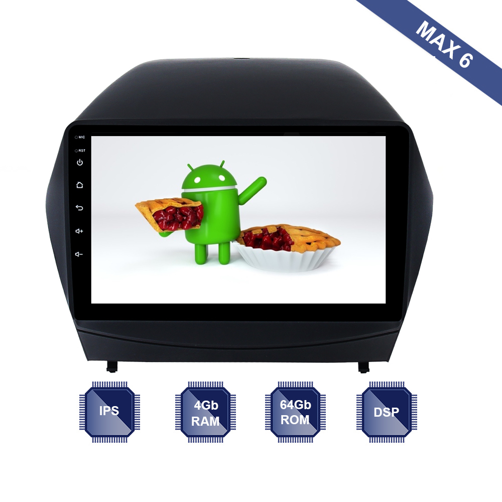 Android 9.0 Car Radio 2 Din GPS Navi for Hyundai IX35 / Tucson 2009   2015 PX6 DSP IPS Screen 4Gb+64Gb RDS WIFI BT HDMI output-in Car Multimedia Player from Automobiles & Motorcycles    1