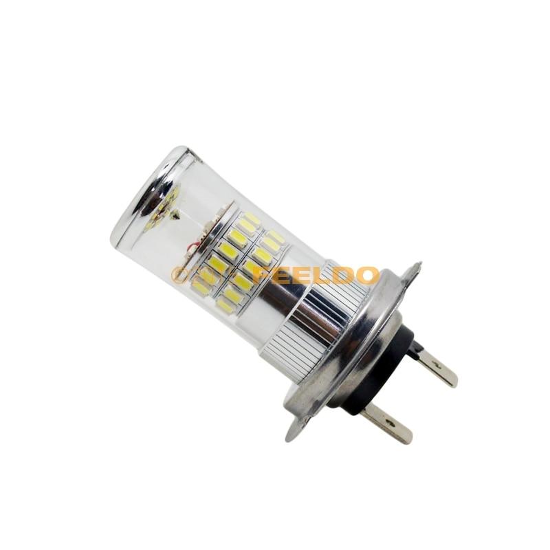 2Pcs 12V DC Car Superb Bright White H7 48SMD 3014 Fog LED Lights Bulb Lamp #FD-4670