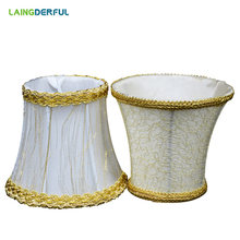 LAINGDERFUL Modern Lampshade Candle Crystal Gold Mesh Fabric Lampshell Light Shade Lamp Cover Hardware Advanced Cloth(China)
