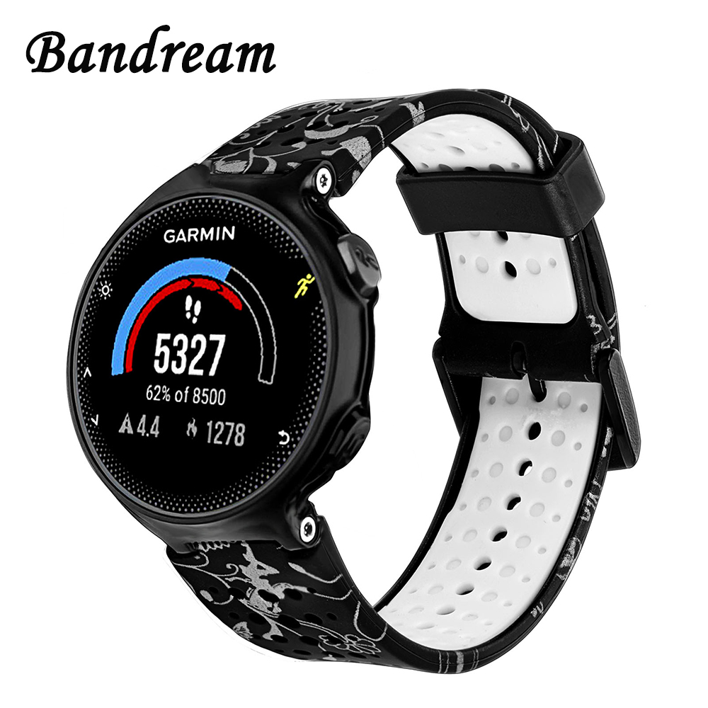 Double Color Silicone Rubber Watchband for Garmin Forerunner 235 220 230 620 630 735XT Approach S20 S5 S6 Sport Band Watch Strap forerunner 620 hrm