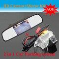 """Promoção 4.3 """"espelho de carro monitor de LCD TFT + câmera de visão traseira do carro de backup estacionamento camera para Mitsubishi Lancer/ala Deus/cheetah soarn"""