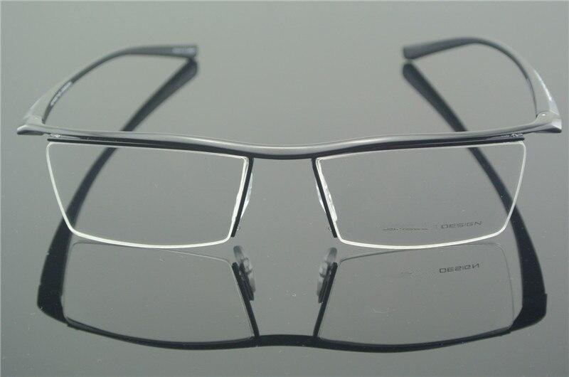 TR90 anteojos media llanta marco negro gafas hombre mujer gafas Rx capaz  óptico E8189 00d194573b73