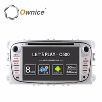 Ownice C500 2Din Android 6.0 4 Core Car DVD Player Per FORD Mondeo S-MAX Connect FOCUS 2 2008-2011 Con Radio GPS 4G LTE Network