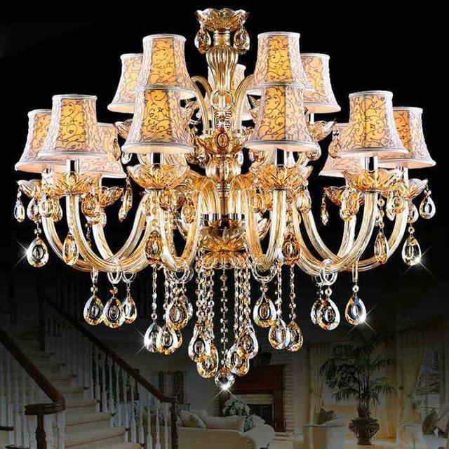 Große Kronleuchter Für Esszimmer Schlafzimmer Küche Livring Zimmer Glanz  Led 15 Arme Kristall Glanz De Cristal