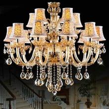 Large Chandeliers For dining room Bedroom Kitchen Livring room lustre led 15 Arms Crystal lustre de cristal para sala de jantar