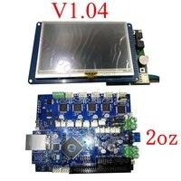 Последняя версия V1.04 Duet 2 Ethernet плата управления 32 бит Duet Ethernet материнская плата W/4,3 7 PanelDue touch screen control ler