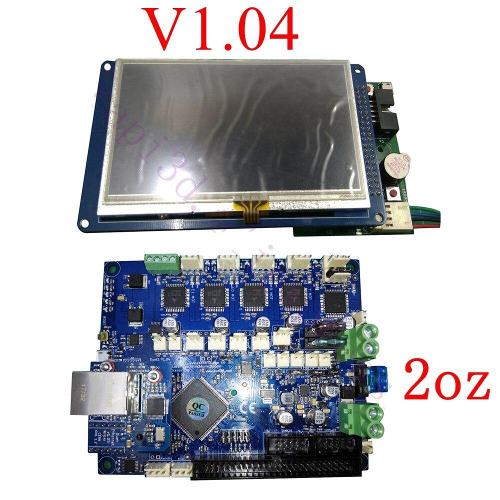 """最新バージョン V1.04 デュエット 2 イーサネット制御ボード 32 ビットデュエットイーサネットマザーボード W/4.3 """"7"""" PanelDue タッチスクリーンコントローラ  グループ上の パソコン & オフィス からの 3Dプリンタパーツ & アクセサリ の中 1"""