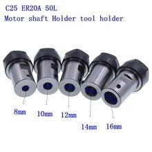 Rod-Holder Collet-Chuck-Extension Motor-Shaft C25 ER20A 10mm 14mm 12mm 8mm 16mm 50L