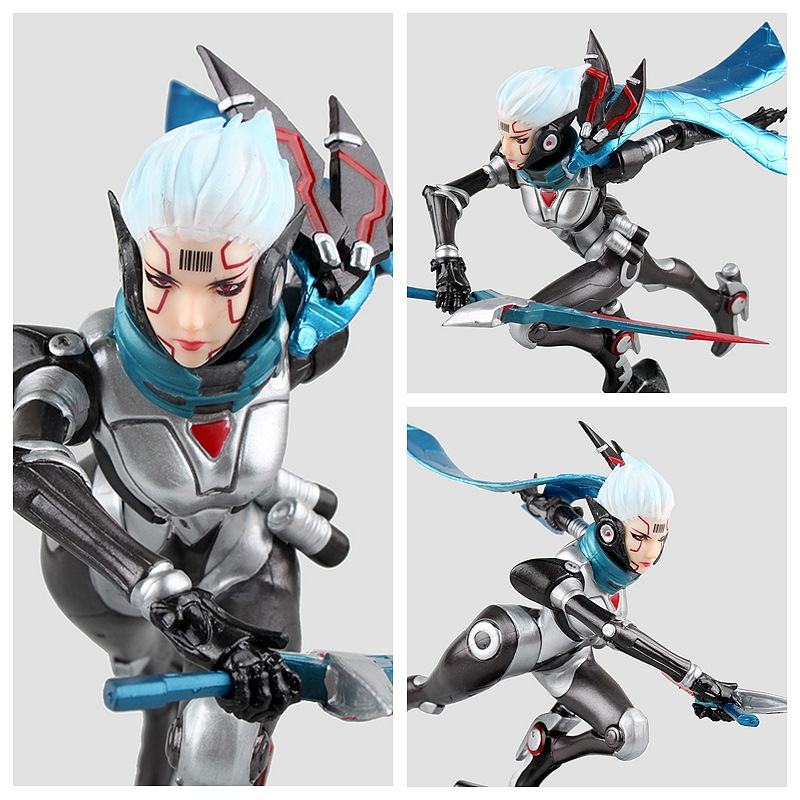 New anime game Fiora Laurent The Grand Duelist 19cm pvc action figure kids model toys collection gift juguetes brinquedos hot
