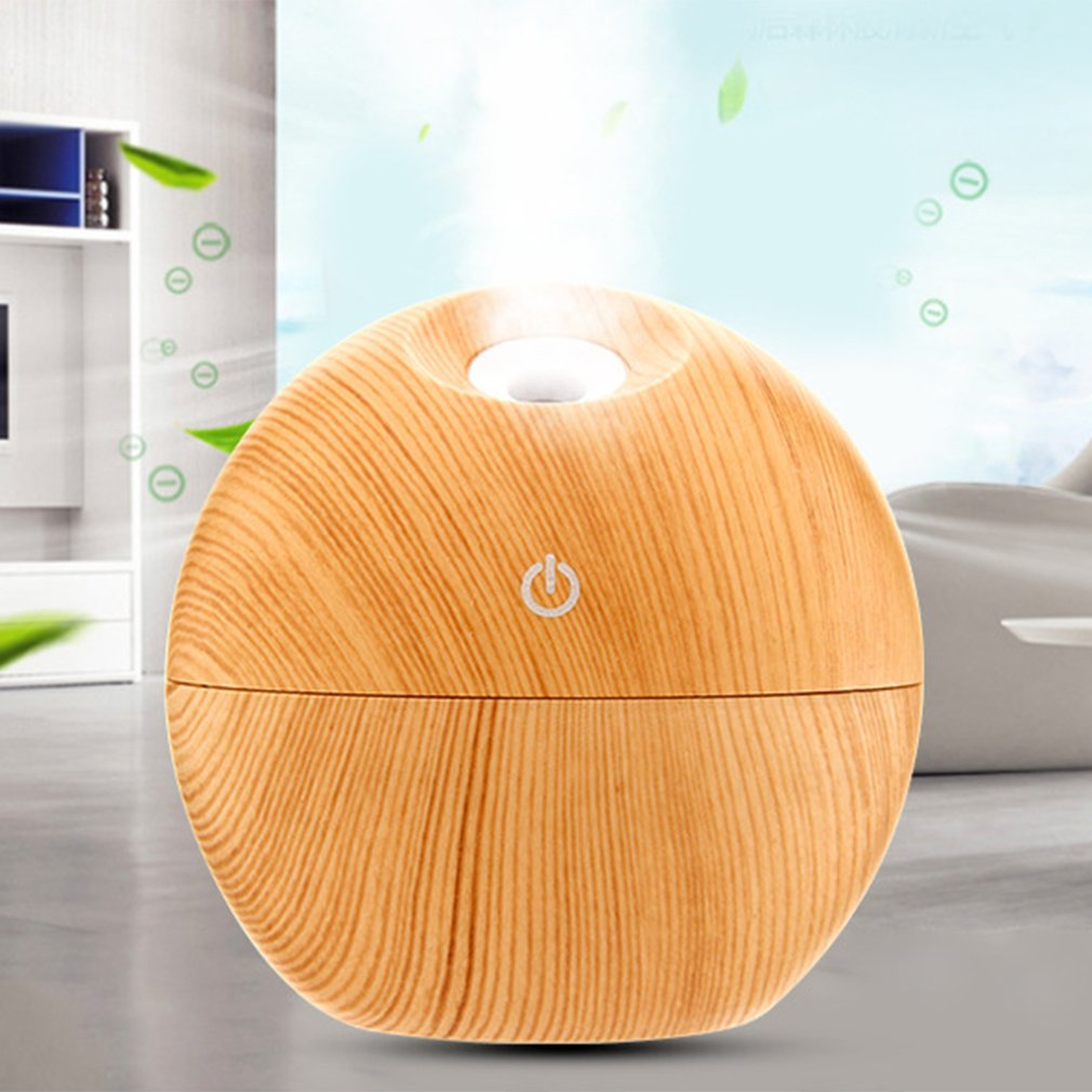 Creative Round Ball Air Humidifier Essential Oil Diffuser Colorful LED Night Light Air Purifier for Home Office Aromatherapy