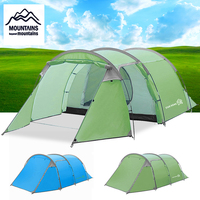MOUNTANIS Large Tent Camping Outdoor Double Layer Tents 4 Persons Hiking Travel Tent Waterproof