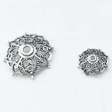 High Quality 925 Sterling Silver Bead Cap Spacer Spide Web Bead Base Silver Charms For Jewelry Making Accessories 10Pcs/lot