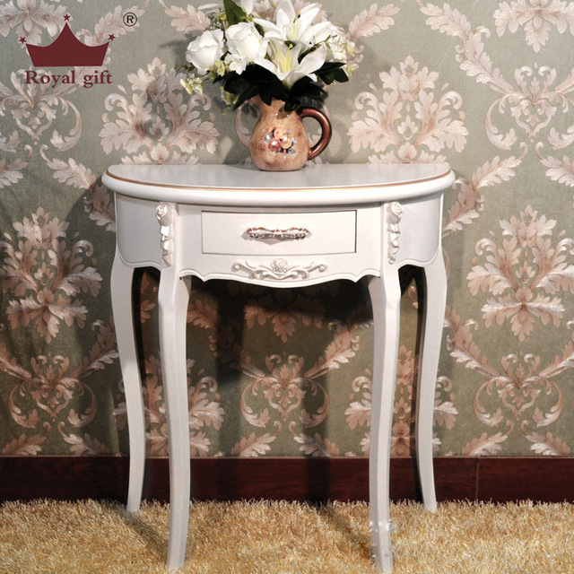 Half Moon Station Side Table Console Factory Outlets European Style Entrance Roundtable