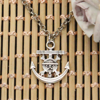 new fashion anchor pirate skull Pendants round cross chain short long Mens Womens DIY silver necklace Jewelry Gift