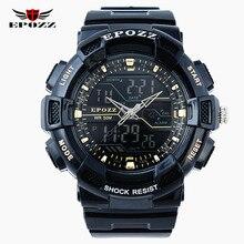 Mens Del Deporte Del reloj Electrónico Digital reloj 50 M impermeable s choque LLEVÓ relojes Reloj masculino del relogio masculino esportivo
