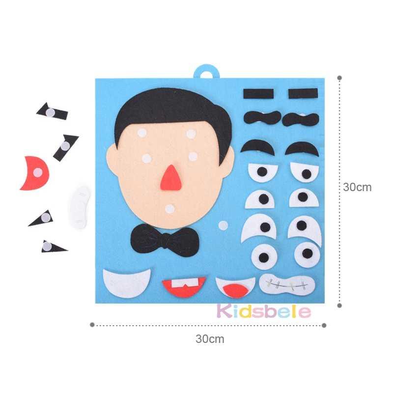 Diy Speelgoed Emotie Veranderen Puzzel Speelgoed 30 Cm * 30 Cm Creatieve Gezichtsuitdrukking Kids Educatief Speelgoed Voor Kinderen Leren grappige Set