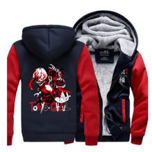 Hot Anime Tokyo Ghoul Kaneki Ken School hero thicken fleece winter mask jacket Coat cosplay costume hoodie