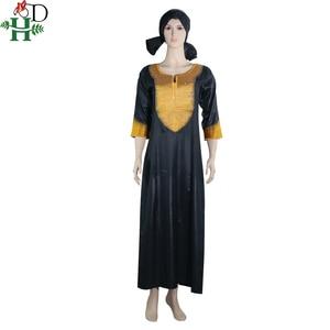 Image 5 - アフリカ女性のための Dashiki 刺繍白バザンドレスプラスサイズの女性服アフリカローブ africaine マキシドレス 3xl 4XL