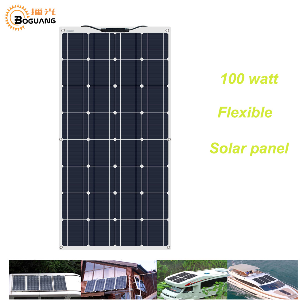 BOGUANG Flexible Solar Panel 16V 100W plate CELLS Monocrystalline silicon Photovoltaic Panels 200w 400w 600w 800w