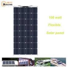 BOGUANG ยืดหยุ่นแผงเซลล์แสงอาทิตย์ 100W 200 W 400 W 600 W 800 W 1000 W 12V 24V ระบบปิดจีนการจัดส่ง