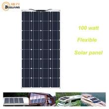 BOGUANG panel solar Flexible, célula Solar de 100W, 200w, 400w, 600w, 800w, 1000w, 12V, 24V, sistema fuera de la red, envío desde china