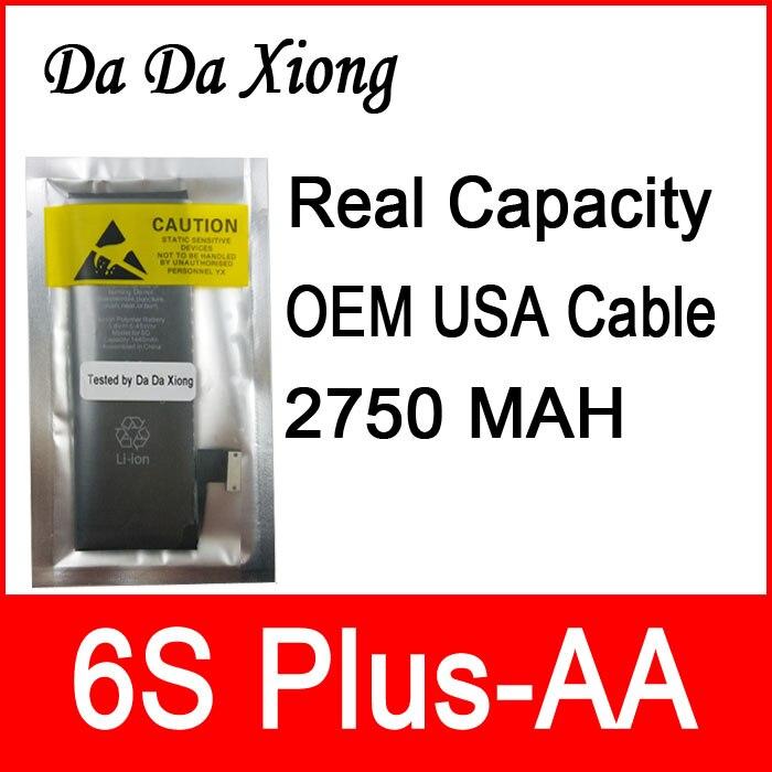 """imágenes para 10 unids/lote Capacidad Real 2750 mAh Núcleo junta de Protección 3.82 V Cero cíclica de La Batería para el iphone 6 S Plus 5.5 """"reparación de piezas de 6 S Plus-AA"""
