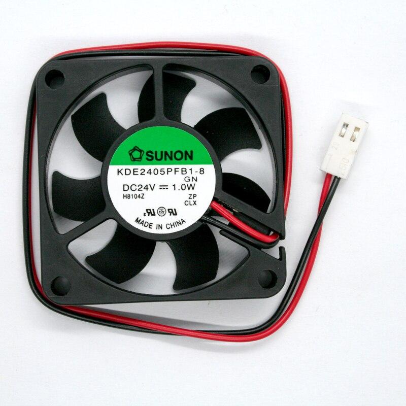 SUNON KDE2405PFB1 8 5cm 5010 50 50 10mm DC 24V 1 0 W 2 Line Cooling