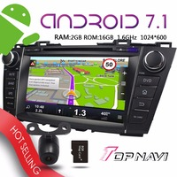 TOPNAVI 8'' Android 7.1 Auto Multimedia Players for Mazda 5 Premacy 2009 2010 2011 2012 Car Free Map Update GPS Navigation DVD