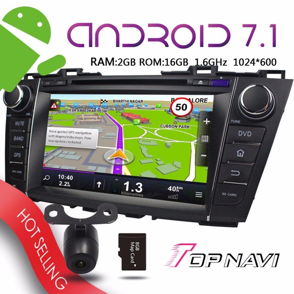 Wanusual 8 &#187;Android 7.1 Авто мультимедийные плееры для Mazda <font><b>5</b></font> Premacy 2009 2010 2011 2012 автомобиля Бесплатная Географическая карта обновление GPS навигации DVD