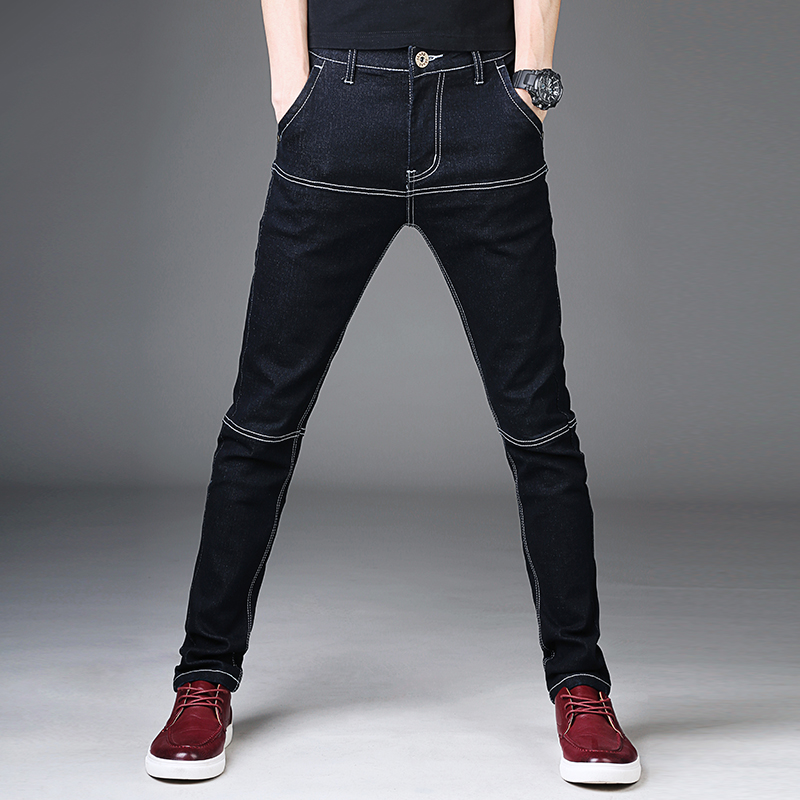 Black Mens Jeans Cotton  Denim Pants Man Stretch Casual Slim Fit Jean Trousers Male 2018 Fashion Young Skinny Jeans Men Pants