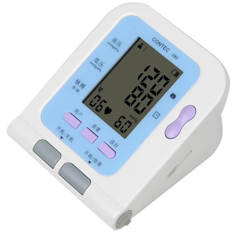 Hot Sale Automatic Electronic Multi user Mode BP Monitor With Soft Ware| Optiona/Spo2 Probe, Free Ship,CE FDA
