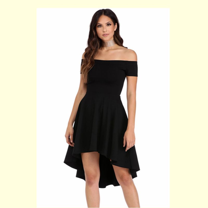 bedcc9ccd3 Summer Dress 2017 Women Off Shoulder Party Dresses Burgundy&Blue Casual  Elegant Vintage Midi Dress Vestidos-in Dresses from Women's Clothing on ...