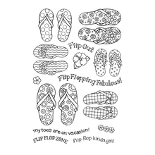 flip flop Transparent Clear Silicone Stamp/Seal for DIY scrapbooking/photo album Decorative clear stamp