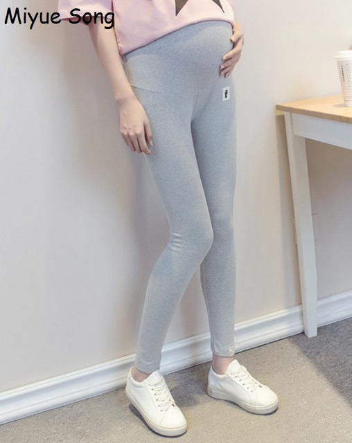 6dd3bee95 Lindo gato maternidad Leggings pantalones otoño Ropa de abrigo para mujeres  embarazadas Ropa premamá embarazo Ropa