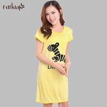 Women Nightgowns Summer Cartoon Night Dress Female Homewear Sleepwear Clothes Short Mini Girl s Nightshirt Sleepshirt