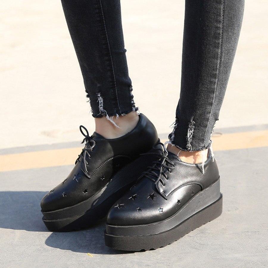 Explosion modèles nouvelles chaussures de tendance avec chaussures pour femmes hauteur augmentant les étoiles avec plate-forme à talons hauts chaussures simples pour femmes