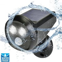Best Waterproof Outdoor Solar Wall Light 2led Solar Powered PIR Motion Sensor Light Led Wall Lamp