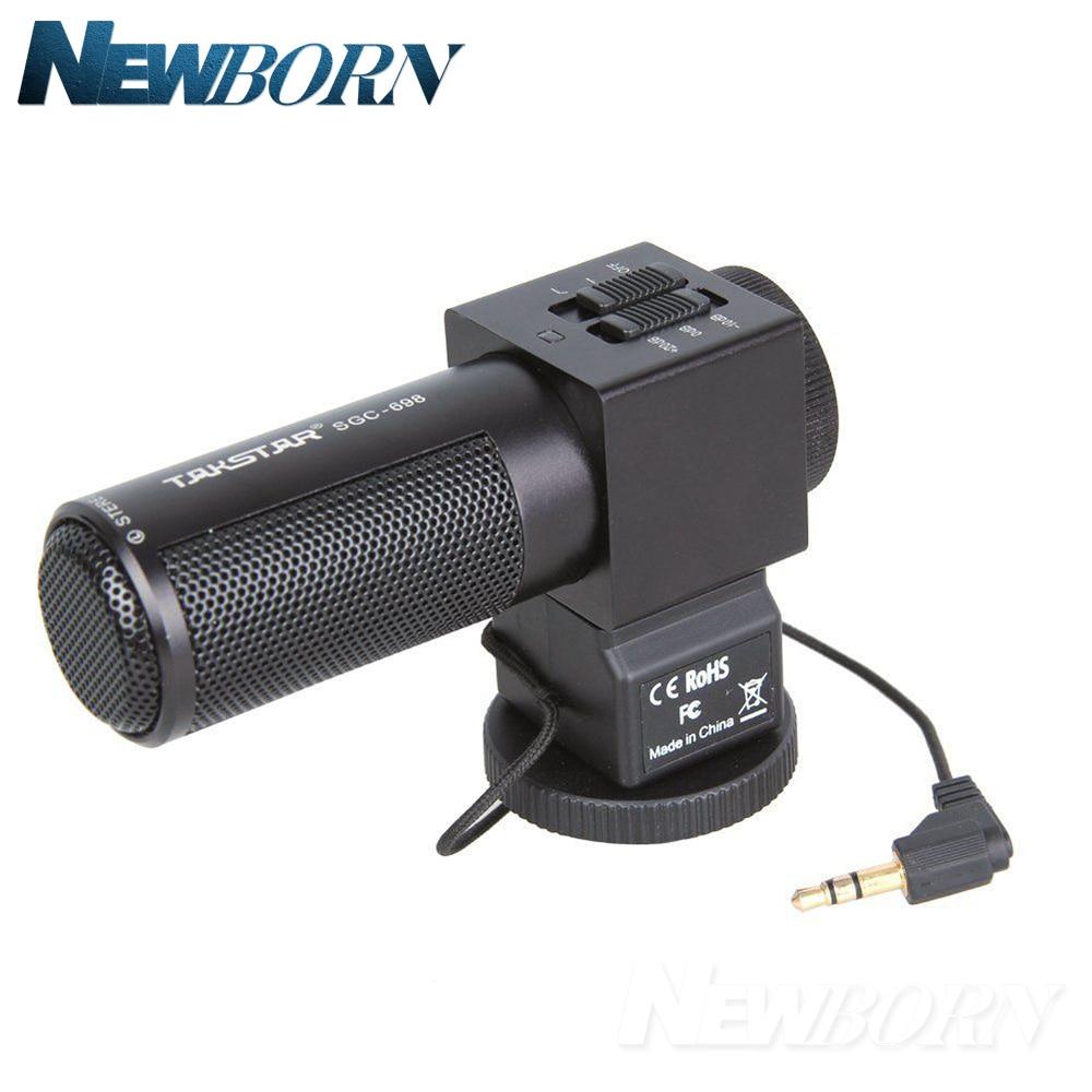 Takstar Stereo Microphone MIC Camera Microphone SGC-698 For Nikon Canon DSLR Camera DV Camcorder For Vloggers/Videomaker